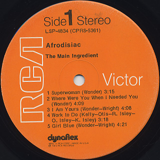 Main Ingredient / Afrodiscas label