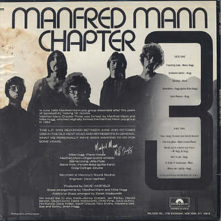 Manfred Mann Chapter Three / S.T. back