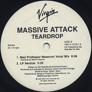 Massive Attack / Teardrop back