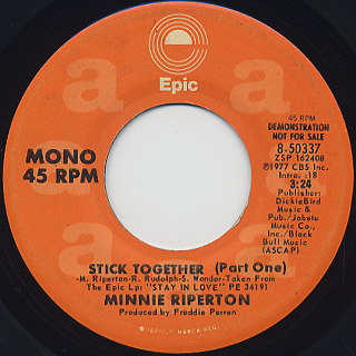 Minnie Riperton / Stick Together(Part One) back