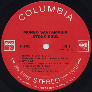 Mongo Santamaria / Stone Soul label