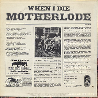 Motherlode / When I Die back