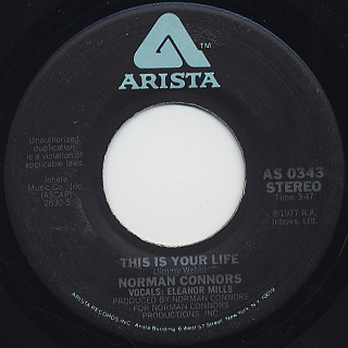 Norman Connors / This Is Your Life c/w Captain Connors