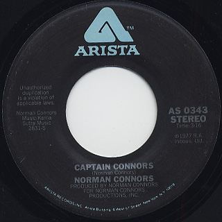 Norman Connors / This Is Your Life c/w Captain Connors back