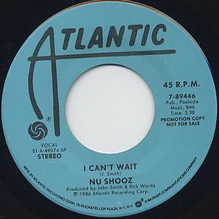Nu Shooz / I Can't Wait(45)