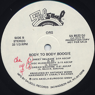 ORS / Body To Body Boogie label