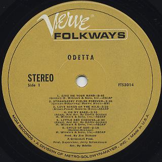 Odetta / S.T. label