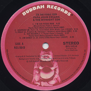 Papa John Creach / I'm The Fiddle Man label
