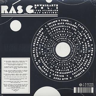 Ras G / Down 2 Earth Vol,2(The Standard Bap Edition) back