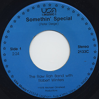 Raw Rah Band with Robert Winters / Somethin' Special