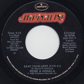 Rene & Angela / Save Your Love (For #1)