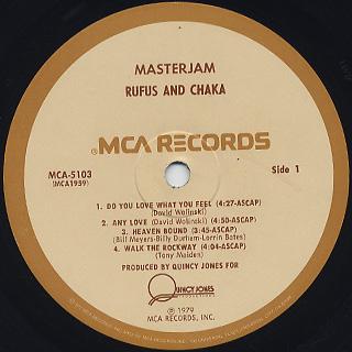 Rufus & Chaka / Masterjam label
