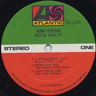 Rufus Harley / King / Queens label
