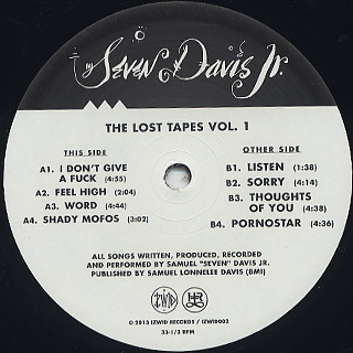 Seven Davis Jr. / The Lost Tapes(1999-2001) label