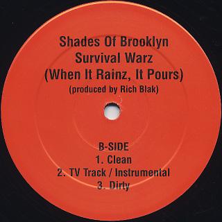 Shades Of Brooklyn / Change c/w Survival Warz back