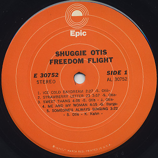 Shuggie Otis / Freedom Flight label