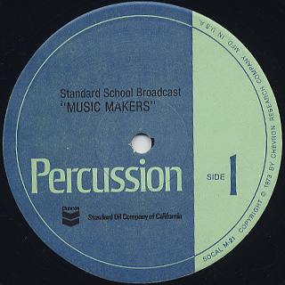 Standard School Broadcast / Music Makers Percussion label