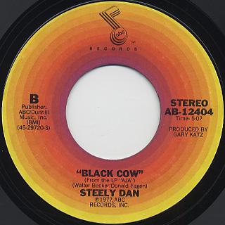 Steely Dan / Josie c/w Black Cow back