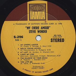 Stevie Wonder My Cherie Amour Mi Querido Amor