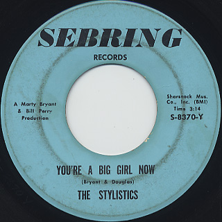 Stylistics / You're A Big Girl Now front