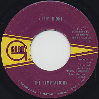 Temptations / Silent Night c/w Rudolph, The Red Nosed Reindeer