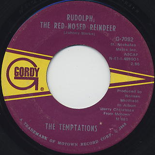 Temptations / Silent Night c/w Rudolph, The Red Nosed Reindeer back