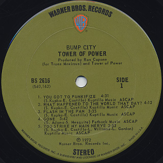 Tower Of Power / Bump City label