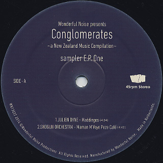 V.A. / Wonderful Noise presents Conglomerates Sampler E.P. One label