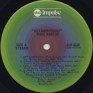 Wade Marcus / Metamorphosis label