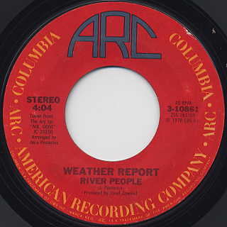 Weather Report / River People front