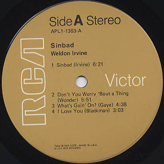 Weldon Irvine / Sinbad label