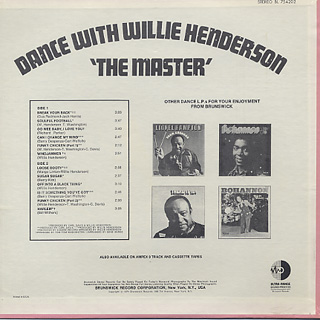 Willie Henderson / Dance With Willie Henderson The Master back