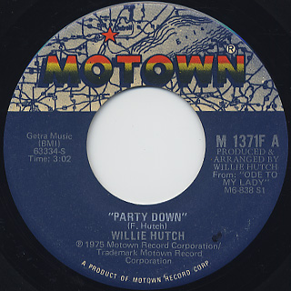 Willie Hutch / Party Down c/w Just Another Day