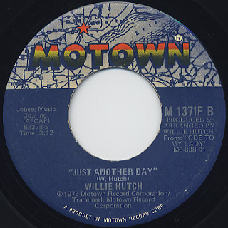 Willie Hutch / Party Down c/w Just Another Day back