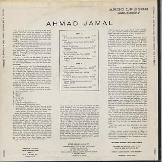 Ahmad Jamal / Volume IV back