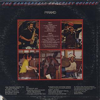 Cannonball Adderley Quintet / Pyramid back