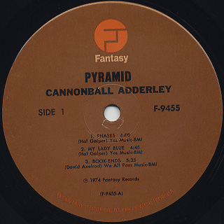 Cannonball Adderley Quintet / Pyramid label