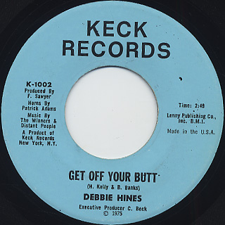 Debbie Hines / Sacrifice c/w Get Off Your Butt back