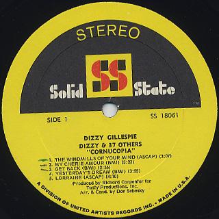 Dizzy Gillespie / Cornucopia label