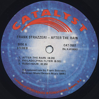 Frank Strazzeri / After The Rain label