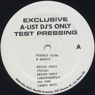 Freddie Gibbs & Madlib / Knicks Remix label