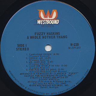 Fuzzy Haskins / A Whole Nother Thang label