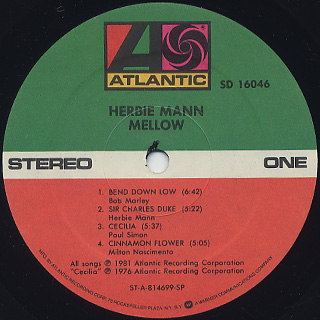 Herbie Mann / Mellow label