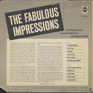 Impressions / The Fabulous Impressions back