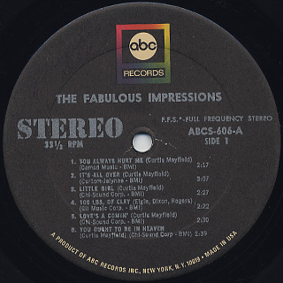 Impressions / The Fabulous Impressions label
