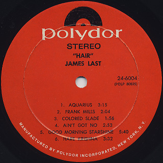 James Last / Hair label