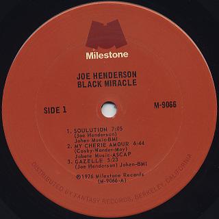 Joe Henderson / Black Miracle label