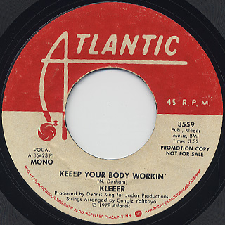 Kleeer / Keeep Your Body Workin'(45) back
