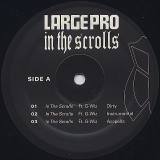 Large Pro / In The Scrolls label