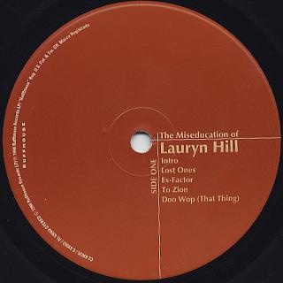 Lauryn Hill / The Miseducation Of Lauryn Hill label
